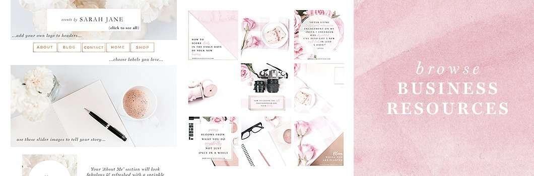 Feminine Business Branding Social Media Templates