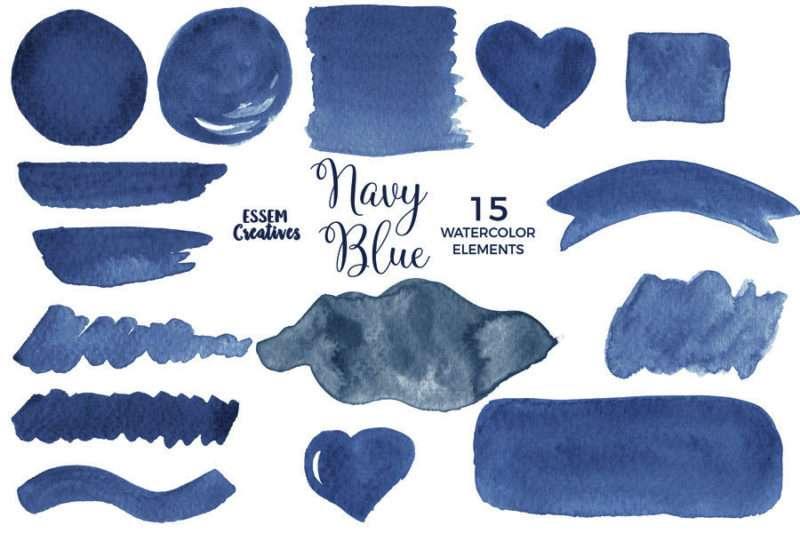 Black Friday Sale Watercolor Splash Texture Clipart