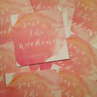 DIY Watercolor Save the Weekend Design by Marlieke