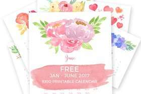Free-Printable-2017-Watercolor-Floral-Calendar