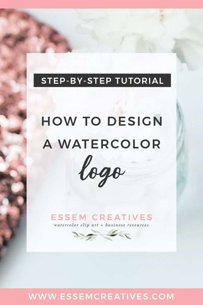 How to Design a Watercolor Logo Using Clipart