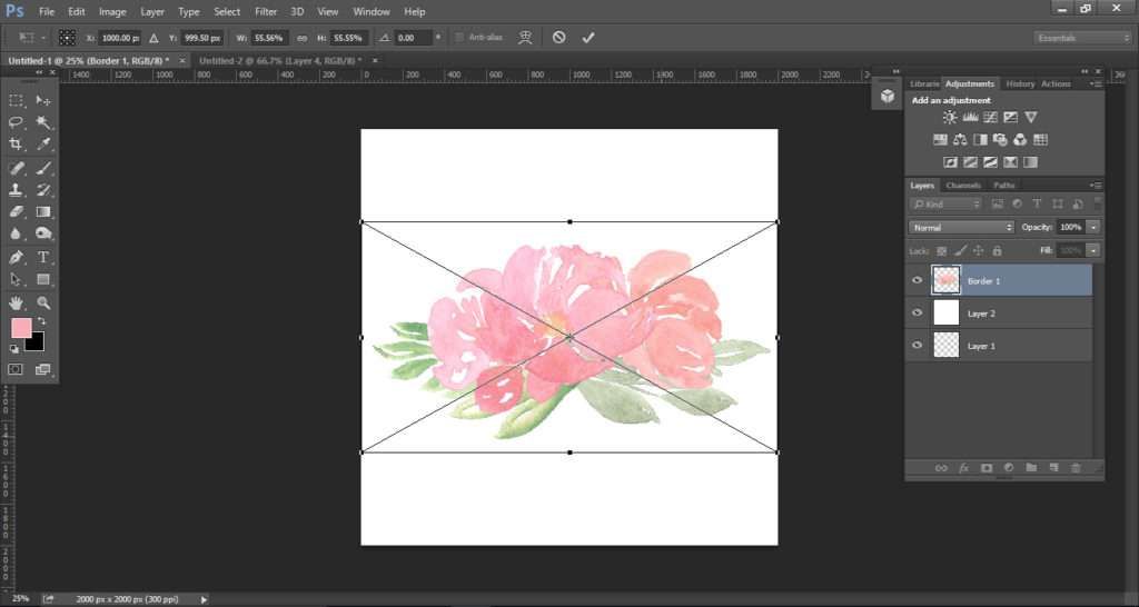 How to create a watercolor logo with clipart tutorial 5