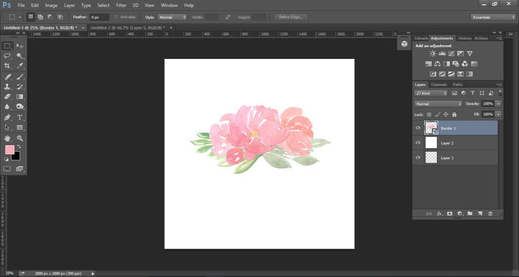 How to create a watercolor logo with clipart tutorial 6