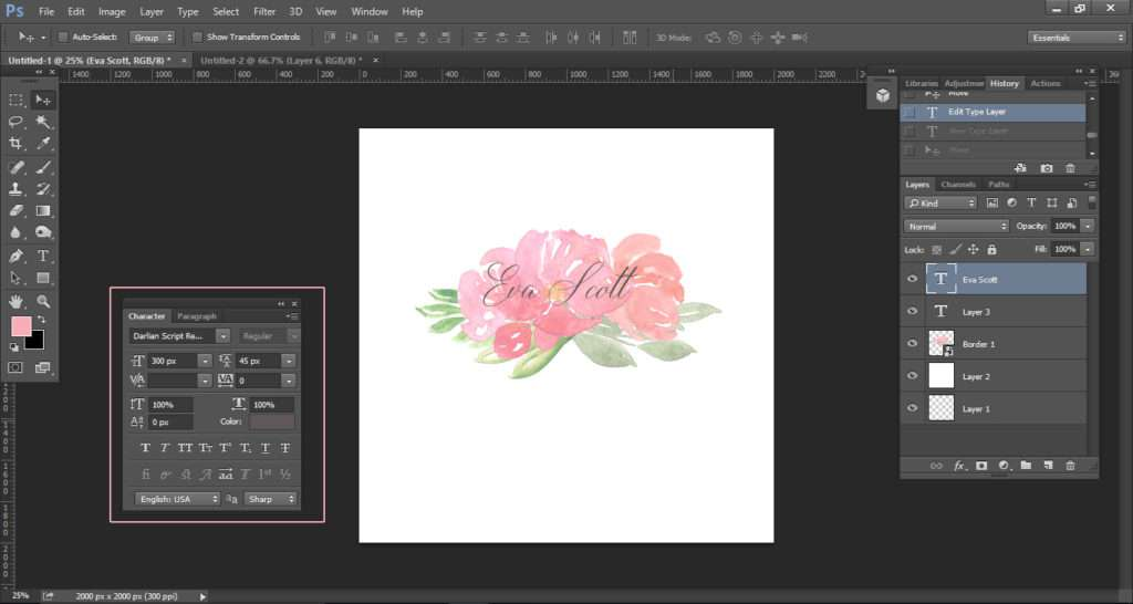 How to create a watercolor logo with clipart tutorial 7