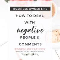 Do you face negative people & comments who don't believe in your business idea? Here's how you can deal with them. These are top tried & tests tools to deal with negativity in the early phases (which can last years) of starting & growing a business.