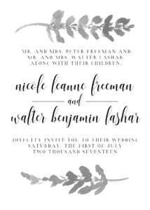 Minimalist Scandic Wedding Invitation