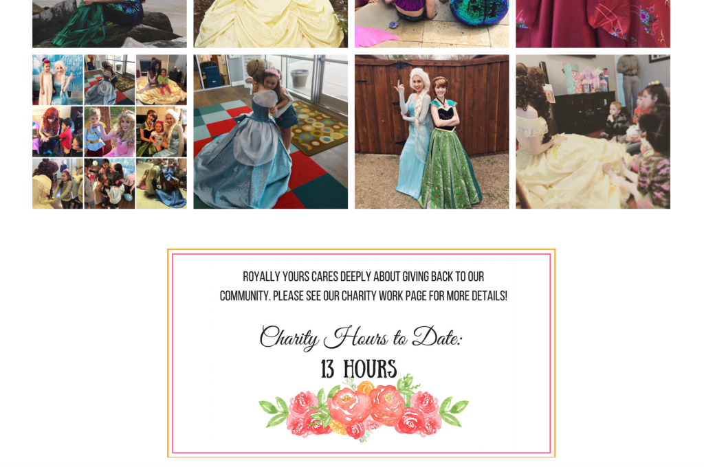 Princess Theme Parties Website Design 2