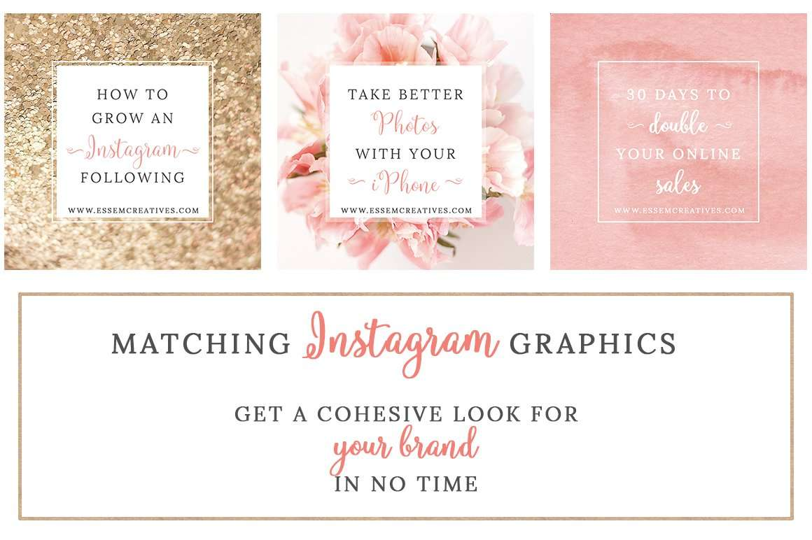 Blush & Gold Social Media Templates