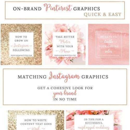 Blush Pink Gold Social Media Templates | Blush and Gold Branding | Graphics for Instagram, Pinterest, Facebook, Twitter, Blog, Website | Blush Pink and Gold Floral Stock Photos >> Click through to see this awesome product >>
