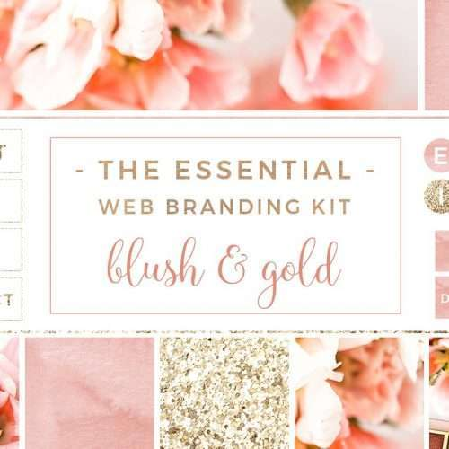 Blush and Gold Web Blog Branding Kit | Blush and Gold Blog Header | Blush and Gold Branding | Watercolor Header | Gold Glitter Facebook Cover | Floral Blog Header | Social Media Icons | Slider Images | Stock Photos for Blog Website Business | Pink Flowers Stock Photography | Click through to check it out >>