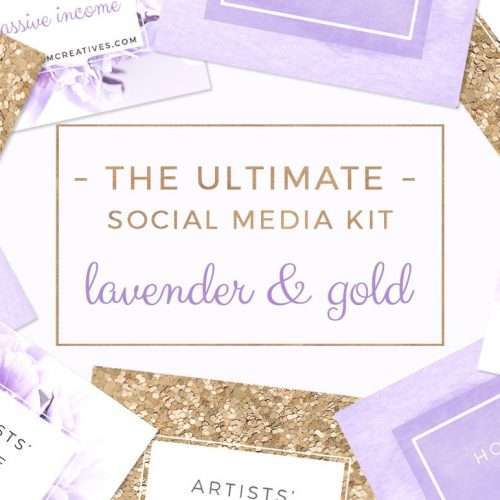 Lavender and Gold Social Media Templates | Purple Branding | Purple Floral Stock Photos for Blog | Blog Header | Website Banner | Photos for Instagram Pinterest | Purple Branding | Click through to check out this product which will simplify your life >>