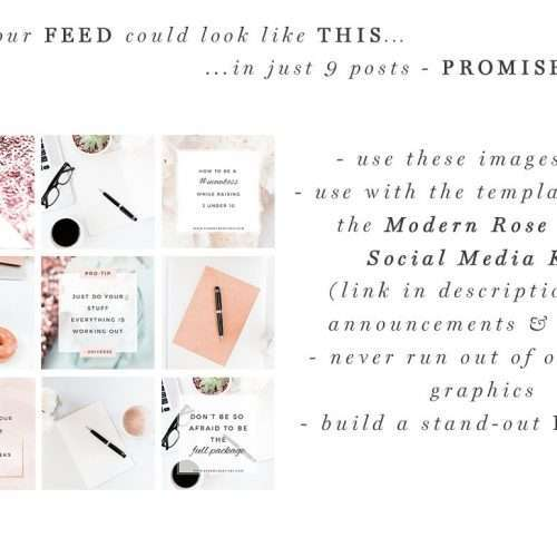 Modern Neutral Rose Gold Stock Photos Bundle | Social Media Branding, Floral Desktop Photos for Blog, Website, Instagram, Facebook | If you're looking for gorgeous minimalist & neutral, yet feminine and on-trend stock photos which are also AFFORDABLE, click through to check out this bundle >>