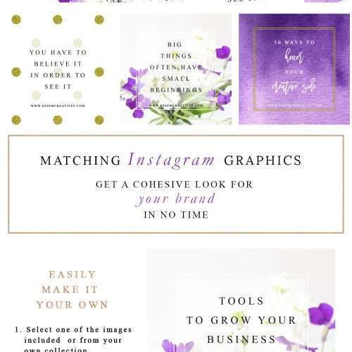 Purple and Gold Facebook Templates 2