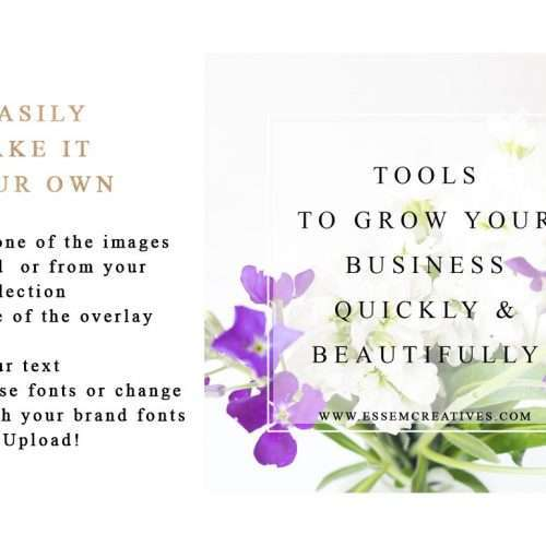 Purple and Gold Social Media Templates