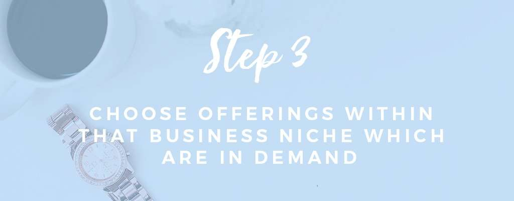 Choosing a Business Niche Step by Step Process