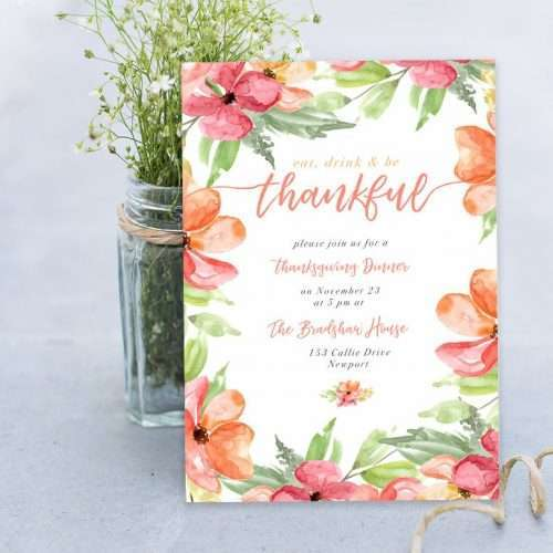 Fall Floral - Autumn Fall Watercolor Clipart Set | This is a set of watercolor bouquets, 5x7 digital papers and separate flowers, leaves, branches and fall inspired elements for all your design projects this season. Create thanksgiving cards, birthday party invitations, wedding cards, save the date, seasonal logos and more. Color palette features fall colors of orange, coral and yellow. Click to check it out>>