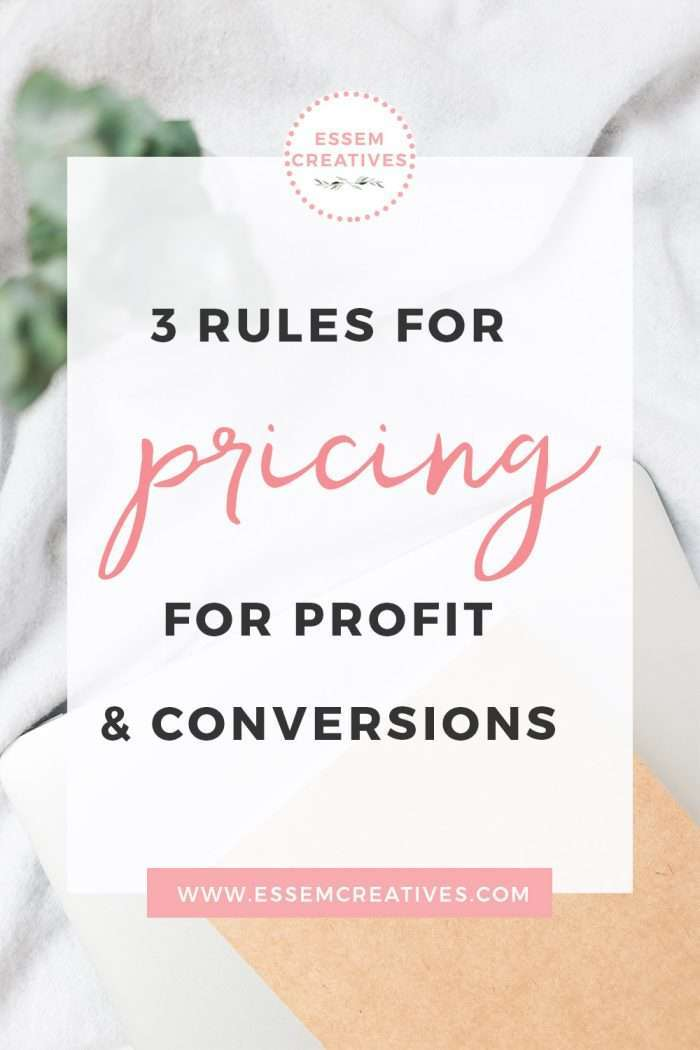 3 Rules for Pricing for Profit & Conversions for Small Creative Businesses | Start and Grow a Business from Home | When you are at the helm of running a small business, the one thing that is constantly on your mind is pricing. Am I pricing myself for profit, but also competitively? Will people pay this much for this service? Will I be able to turn a profit & match my corporate salary with this income? These questions were at the top of my mind when I started my first business.