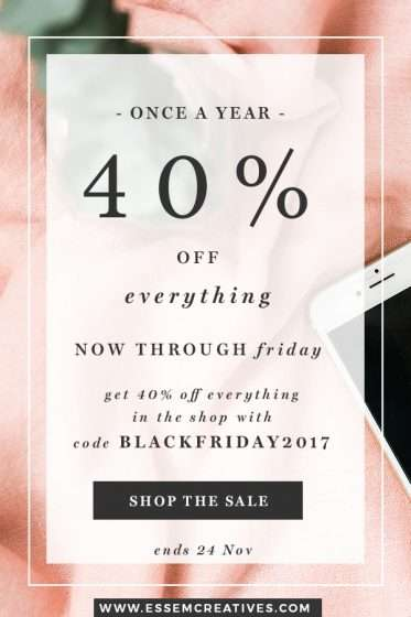 BLACK FRIDAY Sale on Watercolor Flowers Clipart & Graphics and Feminine Styled Stock Photos for Commercial Use | Good time to stock up!