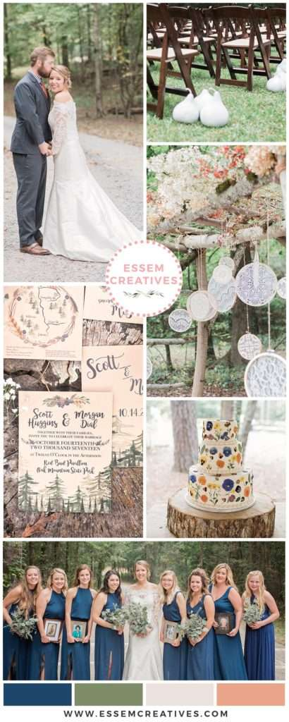 Rustic Mountain Wedding At Oak Mountain State Park Alabama