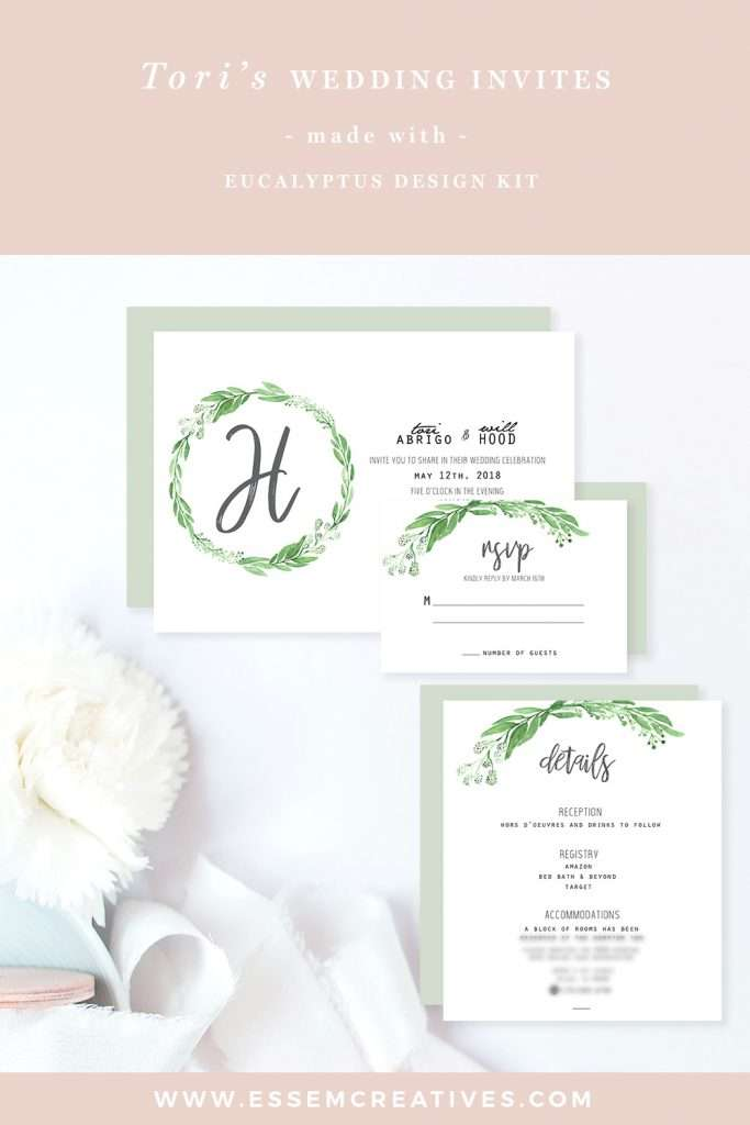 DIY Watercolor Eucalyptus Wedding Invitation Suite, Watercolor Greenery Wedding Invitation RSVP Details Card, DIY Wedding Invites on a Budget, Watercolor Eucalyptus Clipart, Eucalyptus Wreath Clipart Graphics & Stock Illustrations for DIY Crafts and Projects. Click to check out>>