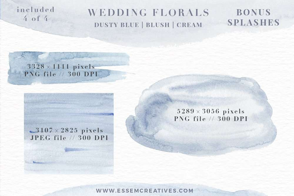 Watercolor Flowers Png Clipart Blue Watercolor Flowers
