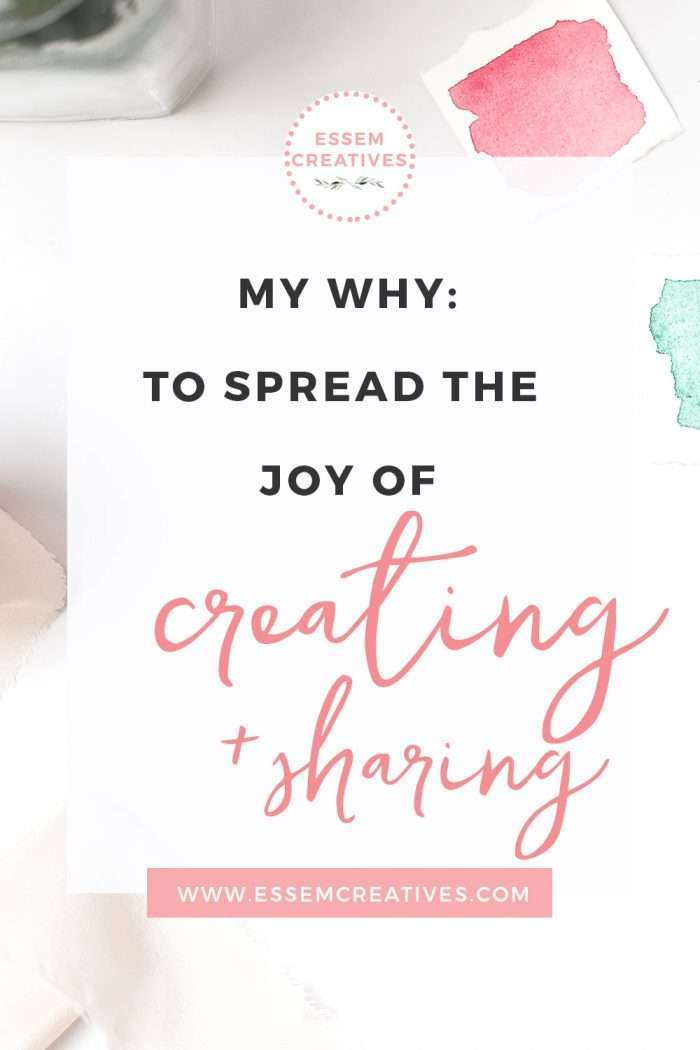 Why I am a creative professional - for the joy of creating and sharing. If you want to get a peek behind the inner workings of the mind of an artist who sells watercolor flowers clipart, then click to read this post>>