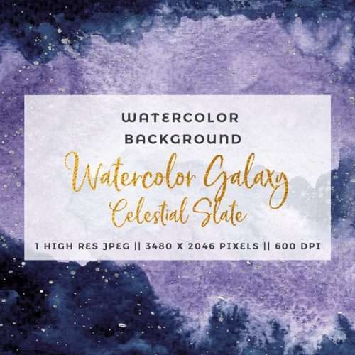 Celestial Watercolor Background with Navy Slate and Lavender | Use this for quick watercolor wedding invitations, birthday party showers and games and signs, or even as scrapbooking paper. This digital background is perfect for printing as is for a modern neutral nursery wall art. Click to see more>>