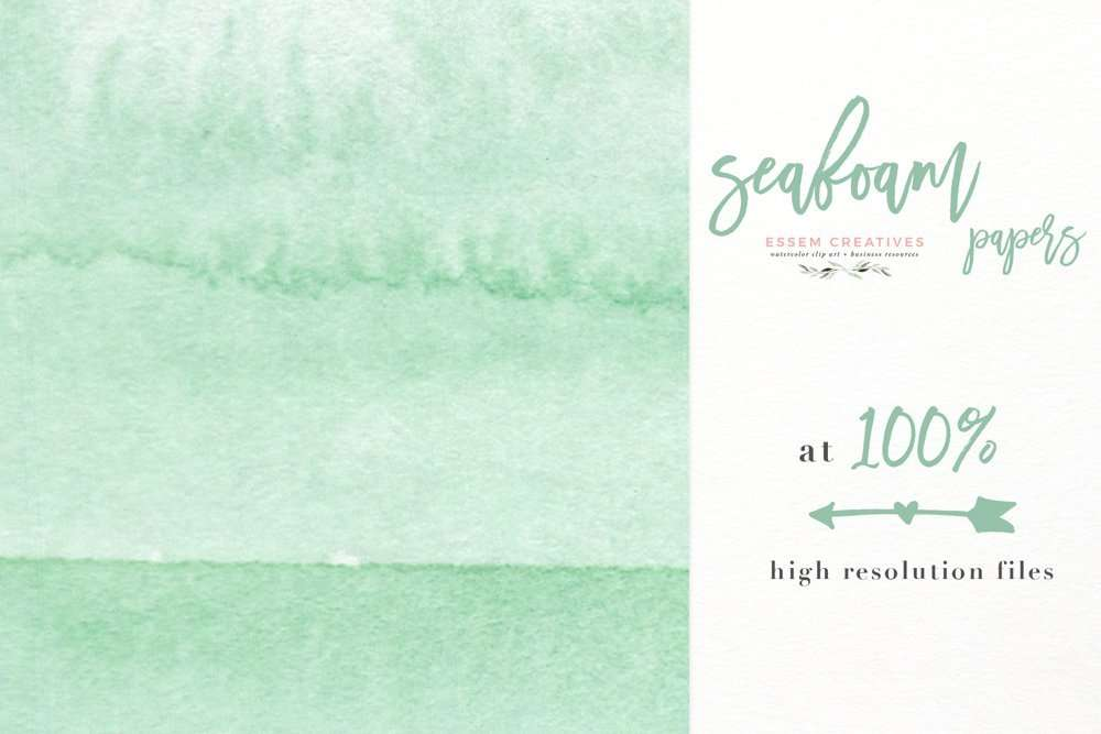 Seafoam Watercolor Geometric Digital Papers Borders Templates Backgrounds | Simple Watercolor Border Frames, Abstract Mint Seafoam Beach Watercolor Splash Background Digital Papers | Perfect for watercolor invitations, beach & seaside cottage nautical inspired summer event decorations, table numbers, party menus, DIY crafts on the cricut machine, planner stickers, scrapbooking layouts for beginners & more. Papers come as 5x7 inches 12x12 inches and A4 size. INSTANT DOWNLOAD item. Click to see more>>