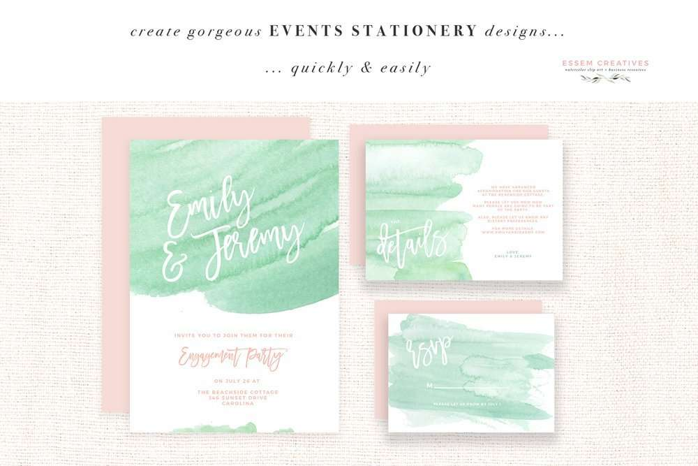 Seafoam Watercolor Splash Clipart for Wedding Invitations | Beach Seaside Cottage Nautical Coastal Wedding Invitations Bridal Shower Party Baby Shower Theme Website Header Branding, Mint Green Watercolor Splashes, Mint and Seafoam beach save the dates. Create your own Beachy Seafoam Designs in minutes. Click to see more>>