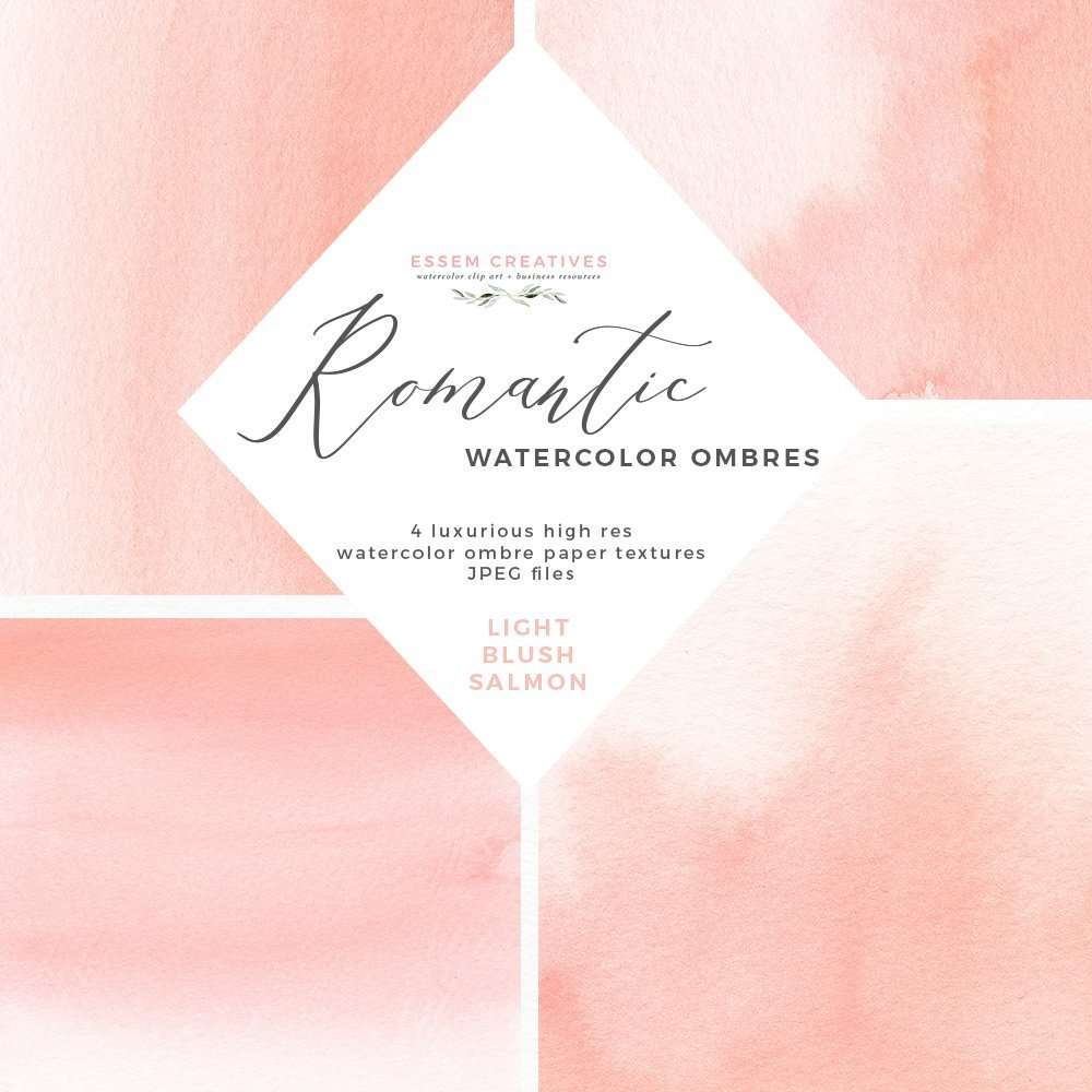 Blush Watercolor Ombres Background For Wedding Invitations Essem