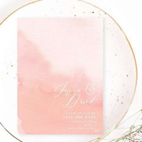 Blush Pink Watercolor Wedding Invitation Template | Whimsical delicate romantic watercolor save the date design | Make your own DIY affordable invitations bridal shower invites and more using these gorgeous backgrounds. Click to see more>>
