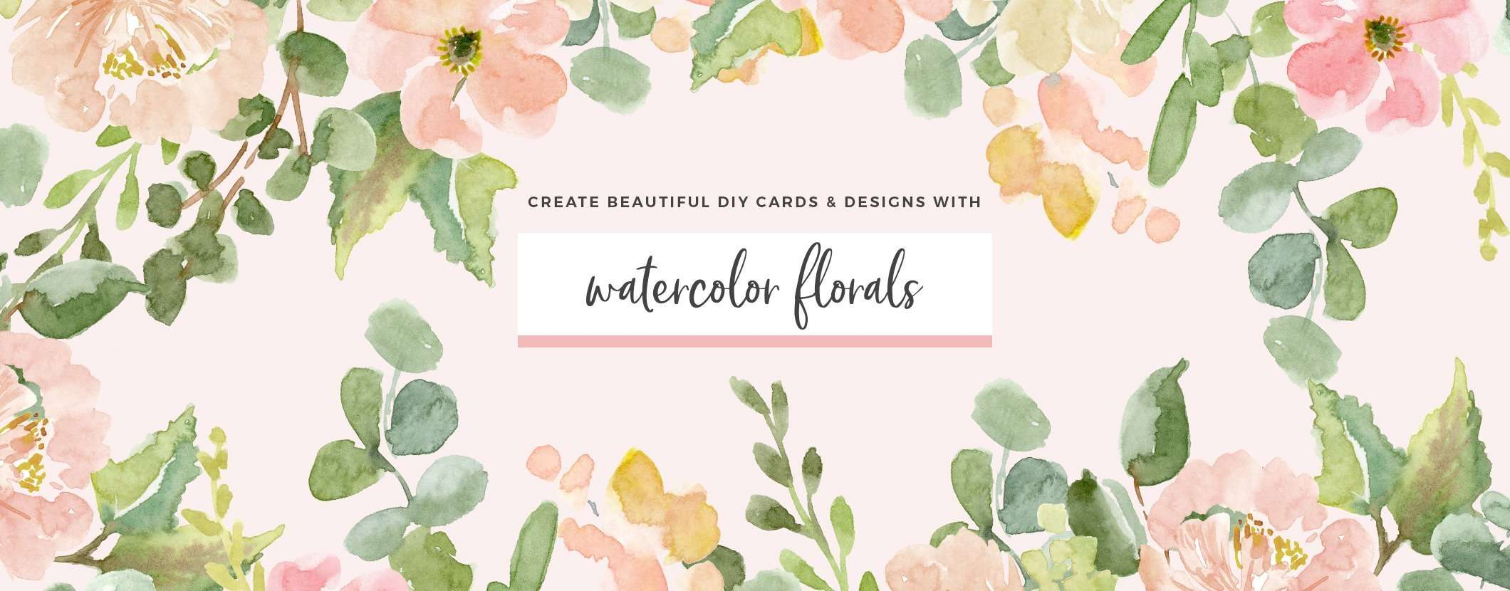 Floral Watercolor Clipart for wedding invitations logos branding birthday party invites DIY stationery