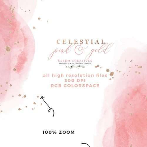 Celestial Wedding Invitation Background | Do you want to make a gorgeous & modern watercolor invitation for your wedding / kid's birthday party / bridesmaid proposals / bridal shower party etc.? You can make beautiful celestial designs using this digital watercolor paper pack, splashes & textures in under 10 minutes (and with software you already have!!) AND on a budget!!! Click to see more & get started (and FINISHED) on your project right away>>