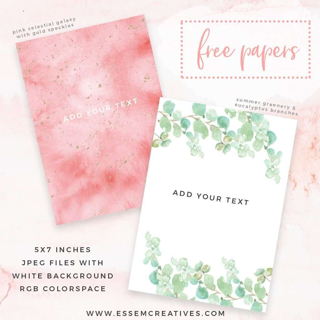 free watercolor invitation backgrounds eucalyptus greenery