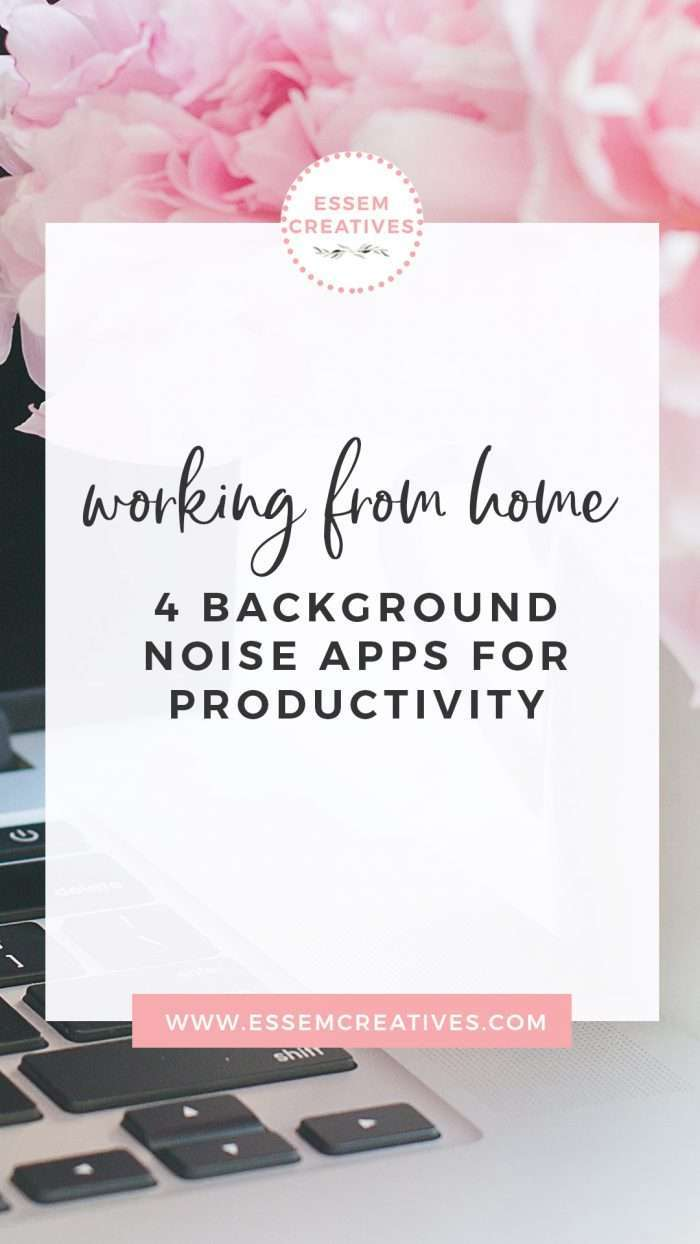 Working from home: 4 background noise apps for productivity | Working from home can be challenging, especially for creatives. I use these apps and tools to keep me inspired, productive and basically safe from not going mad. Click to see which apps these are and how they can help you>>