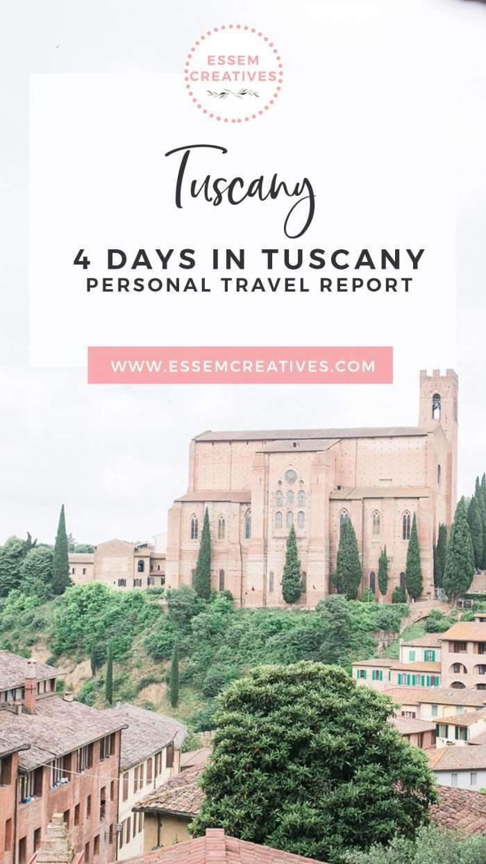 4 Days Tuscany Italy Itinerary - How artists and creative people travel | Tuscany Travel Blog | Things to Do in Florence | Prettiest parts of Florence Tuscany