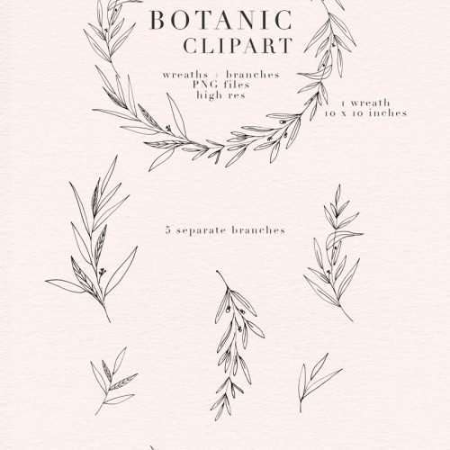 Botanical Clipart, Botanical Illustrations, Greenery Wedding Invitation Templates, Eucalyptus Branches, Olive Branch Wreath PNG, Digital wreath for logo branding, Floral Logo Clipart, Vintage Rustic Boho Save the Date, Bridal Shower Invites, Botanic Elements, Greenery Leaves Branches Foliage Digital Graphics. Click to see more>>