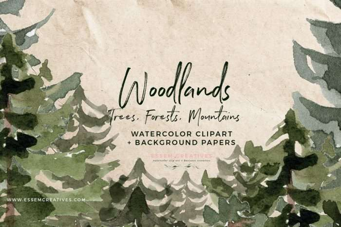 Rustic Woodland Clipart, Enchanted Forest Wedding Invitation Graphics, Mountain Wedding Stationery, First Birthday Party Invitation Ideas, Conifer Trees Clipart, Pine Forest Clipart, Watercolor Art, Digital Art, Stock Illustrations for Graphic Design Projects. Click to see more>> #enchantedforest #rusticwedding #rustic #rustichic #woodland #inthewoods #wildone
