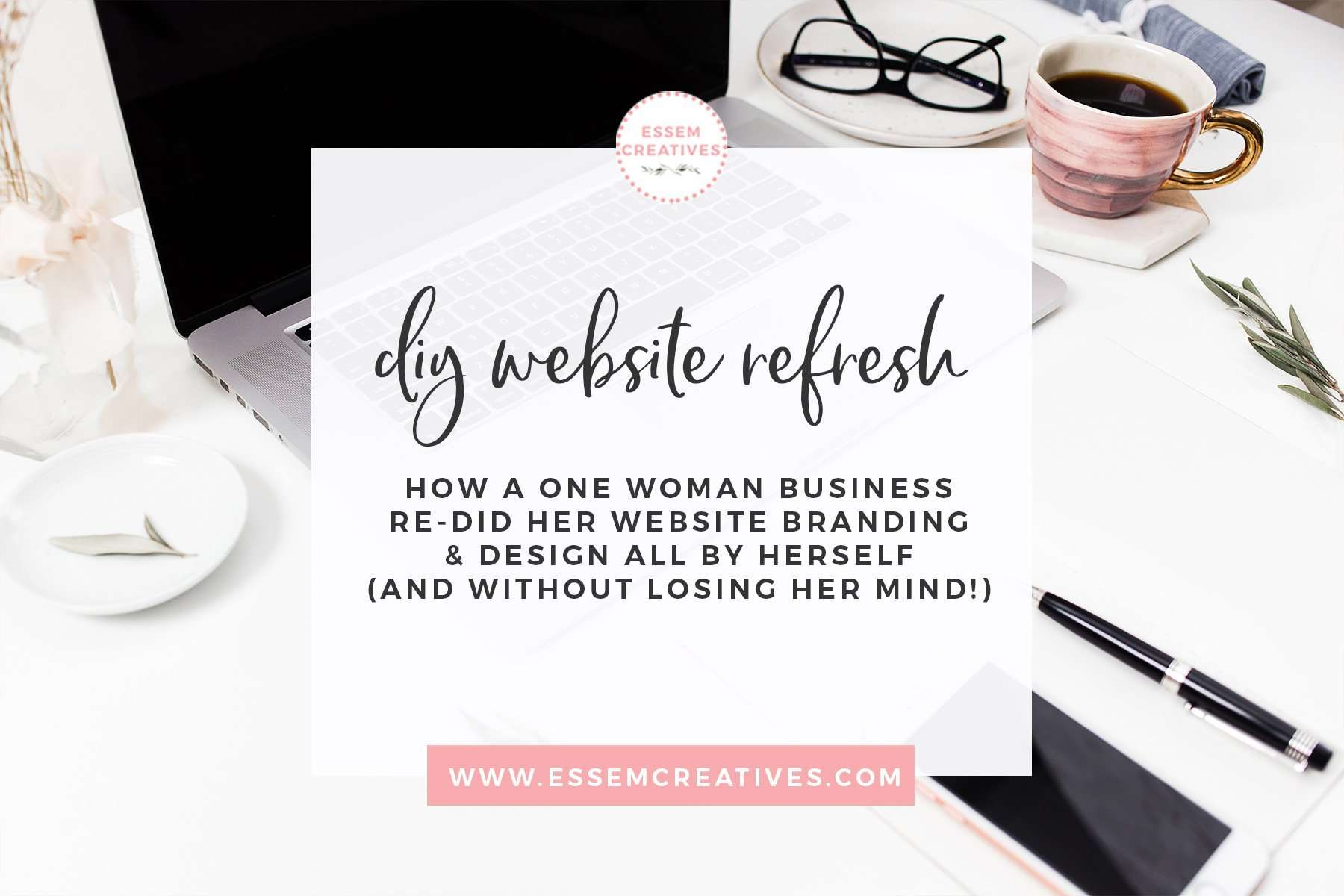 Many small businesses are choosing to buy digital graphics, clipart and stock photos to do their own blog branding. Armed with some inspiration from Pinterest, and with premium high resolution graphics on hand, you too can take the plunge and get this project done!   I had the opportunity to interview one such business owner, Emma Jane, of Atalya Designs. She recently did a brand refresh and redesigned her website to reflect her new branding. She used this set of Watercolor Greenery Graphics for this project. Was it worth it? Click to see what she has to say>> #webdesign #blogbranding #websitedesign