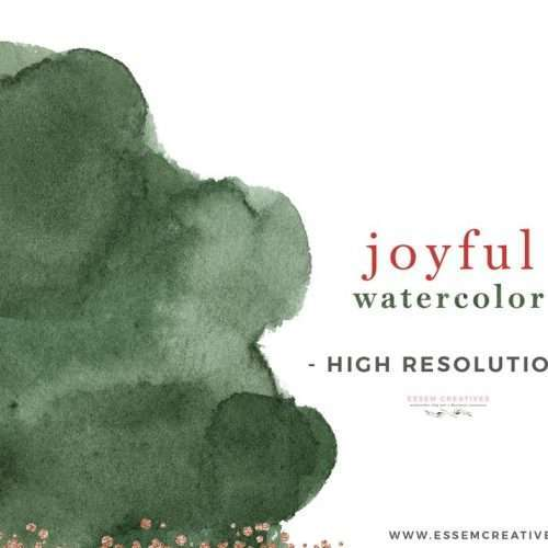 JOYFUL WATERCOLOR is a set of watercolor splashes & brush strokes clipart which will work very well for christmas and holiday design projects. These paint washes and strokes come in modern hues of traditional colors like red and emerald green. This abstract christmas clipart is perfect for making gift tags, christmas cards, social media posts, save the date cards, gift wrapping paper, planner stickers, planner dashboards and more. #christmas #christmascards #holidaydecor #christmascrafts