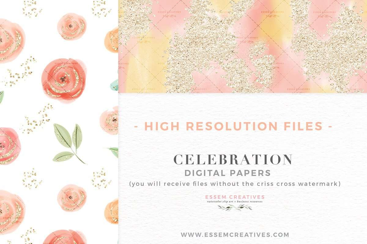 CELEBRATION PAPERS is a set of digital papers which come as seamless patterns in a repeatable tile. This set of digital scrapbooking papers features hand drawn graphics and  pastel cute & whimsical flowers, leaves and bouquets in pink peach cream color palette, sparkles, confetti, bunting garlands, champagne bottle and glasses, fireworks and more. Valentines day bridal party scrapbooking, planner stickers, planner dashboard decor, wall art prints>> #valentinesday #fashionillustration