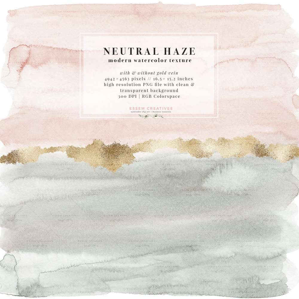 Blush Nursery With Neutral Textures: Neutral Haze Watercolor Splash Texture Graphic With