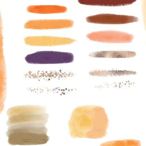 $4.90 Instant Digital Download: FALL WATERCOLOR is a set of watercolor paint brush strokes, textures and confetti glitter labels clipart graphics as PNG files in fall colors. Perfect for thanksgiving halloween holiday designs such as DIY graphic design creations for planner stickers, bullet journal, digital planning, blog, branding, logo design, website blog branding, web elements, instagram story. Orange Yellow Red Burgundy Rust. Click to see more>> #digitalplanning #fall #plannerstickers