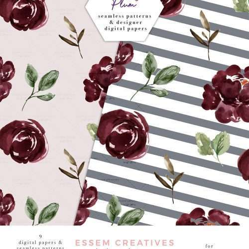 $6.90 Instant Download | Floral Digital Paper, Burgundy Blush Watercolor Fall Scrapbooking Paper Seamless Repeat Patterns | Floral Watercolor Wedding Invitation Template 2019 2020 2021, Wedding Decor Inspiration Ideas, Save the Date Invites, Bridal Shower, Baby Shower, Birthday Party, Planner Stickers, Floral Digital Paper, Scrapbooking, Fabric, Photography Backdrop, Flower logo & brand website blog design. Click to see more>> #fallwedding #winterwedding