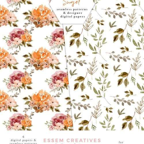 Fall Floral Digital Papers, Dusty Orange Rust Flower Patterns, Photography Backdrop, Seamless Repeat Patterns | Thanksgiving Papers | Fall Floral Watercolor Wedding Invitation Template 2019 2020 2021, Wedding Decor Inspiration Ideas, Save the Date Invites, Bridal Shower, Baby Shower, Birthday Party, Planner Stickers, Floral Digital Paper, Scrapbooking, Digital Planning Resources, Fabric, Photography Backdrop, Business Cardbrand website blog design Click to see more>> #scrapbooking #digitalpapers