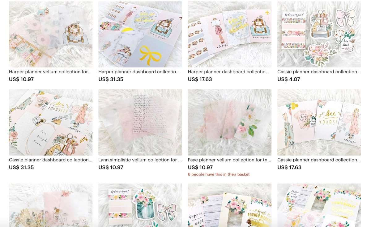 Top Planner Sticker Shops with Watercolor Art for Bullet Journal & Planner Addicts