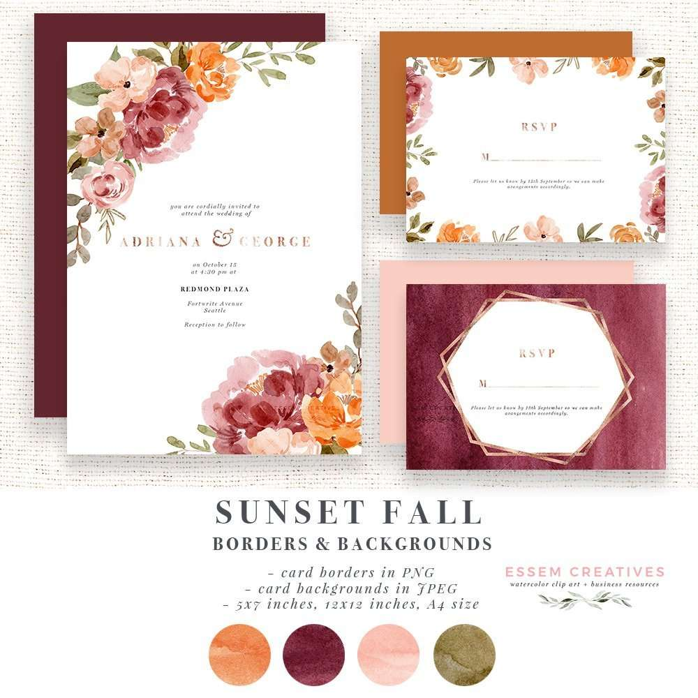 Watercolor Fall Flower Border Clipart, Orange Rust Thanksgiving Invitation Card Template | Dusty Orange Sunset Orange Wedding | Rustic Vintage Classic Fall Wedding Invitation Template 2019 2020 2021, Digital Planner Stickers Post Its, Decor Inspiration Ideas, Save the Date Invites, Bridal Shower, Baby Shower, Bridesmaid Proposal Box Card, Birthday Party Invitations, Posters & Flyers, Scrapbooking, Logo & Website design. Click to see more>> #watercolorinvitations #weddinginvitations