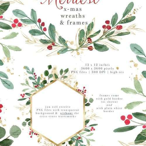 watercolor christmas clipart wreath clip art holiday photo card templates border transparent background essem creatives watercolor clipart business branding watercolor christmas clipart wreath