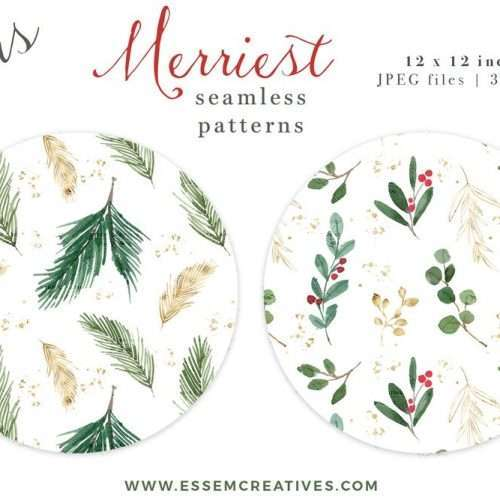 Watercolor Christmas Clipart, Wreath Clip Art, Holiday Photo Card Templates Border Transparent Background | This Christmas Graphics Set has gorgeous winter greenery with red and gold accents. Create holiday designs like holiday cards, Christmas cards, gift tags, greeting cards, Christmas invitations, winter wedding invites, gift labels, wrapping paper, invitations, scrapbooking. Pine, evergreen, holly jolly branches, mistletoe, eucalyptus. Click to see more>> #christmas2019 #christmas #holidays