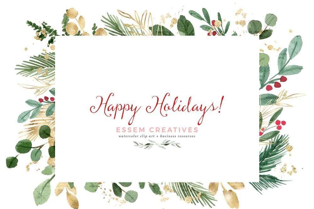 watercolor christmas clipart wreath clip art holiday photo card templates border transparent background essem creatives watercolor clipart business branding watercolor christmas clipart wreath clip art holiday photo card templates border transparent background essem creatives watercolor clipart